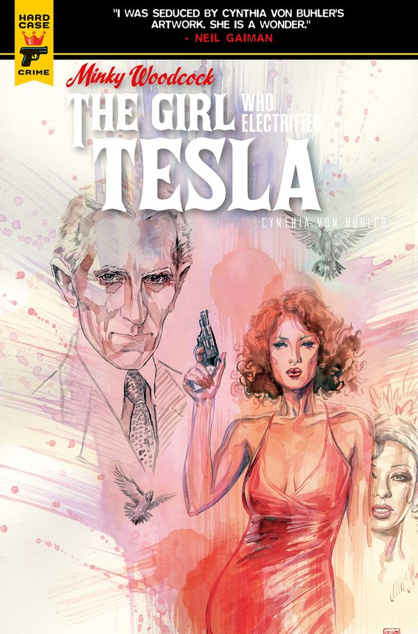 [Cover Art image for Minky Woodcock: The Girl Who Electrified Tesla]