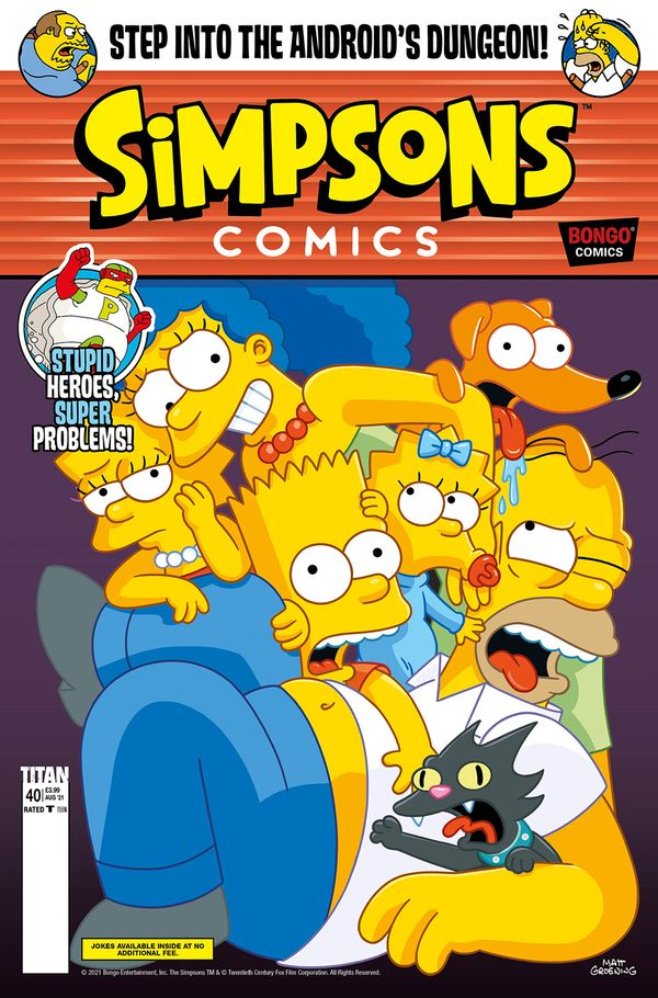 [Cover Art image for Simpsons Comics #40]