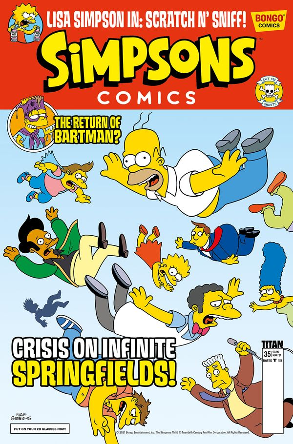 [Cover Art image for Simpsons Comic #35]