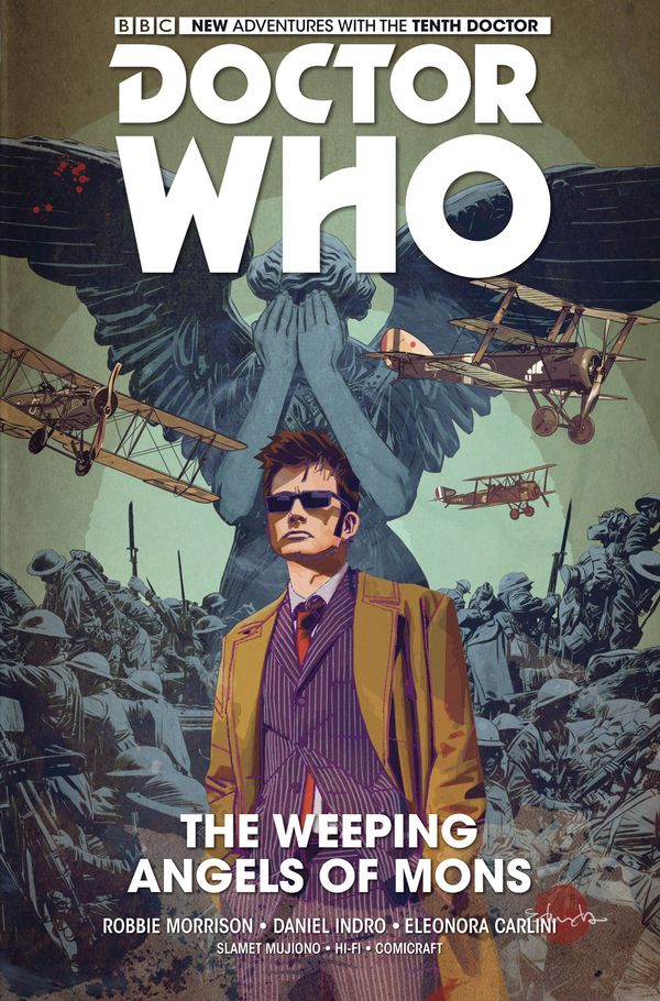 [Cover Art image for Doctor Who: The Tenth Doctor Vol. 2: The Weeping Angels of Mons]