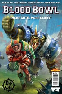 "[Image for SMASH-HIT GAMES WORKSHOP BOARD GAME ""BLOOD BOWL"" COMES TO COMICS!]"