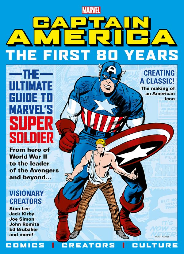 [Cover Art image for Marvel's Captain America: The First 80 Years]