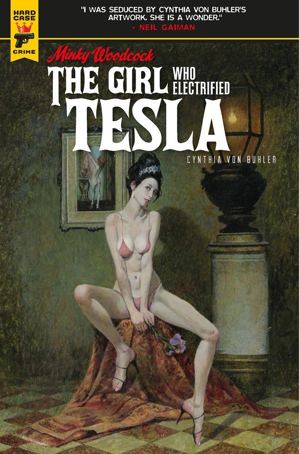 [Cover Art image for Minky Woodcock: The Girl Who Electrified Tesla]
