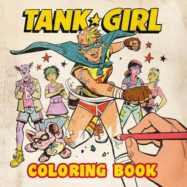 [Cover Art image for Tank Girl Colouring Book]
