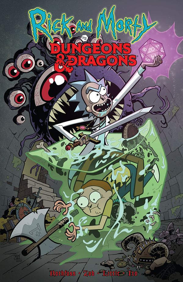 [Cover Art image for Rick and Morty vs Dungeons and Dragons Vol. 1]