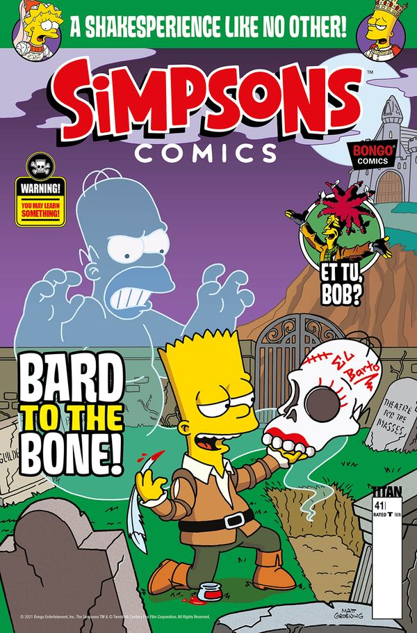 [Cover Art image for Simpsons Comics #41]